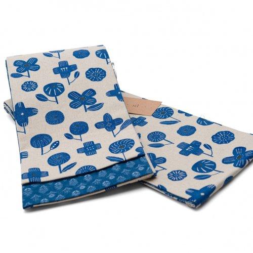 Nagi 綿麻リバーシブル半幅帯 BLUEのサムネイル画像