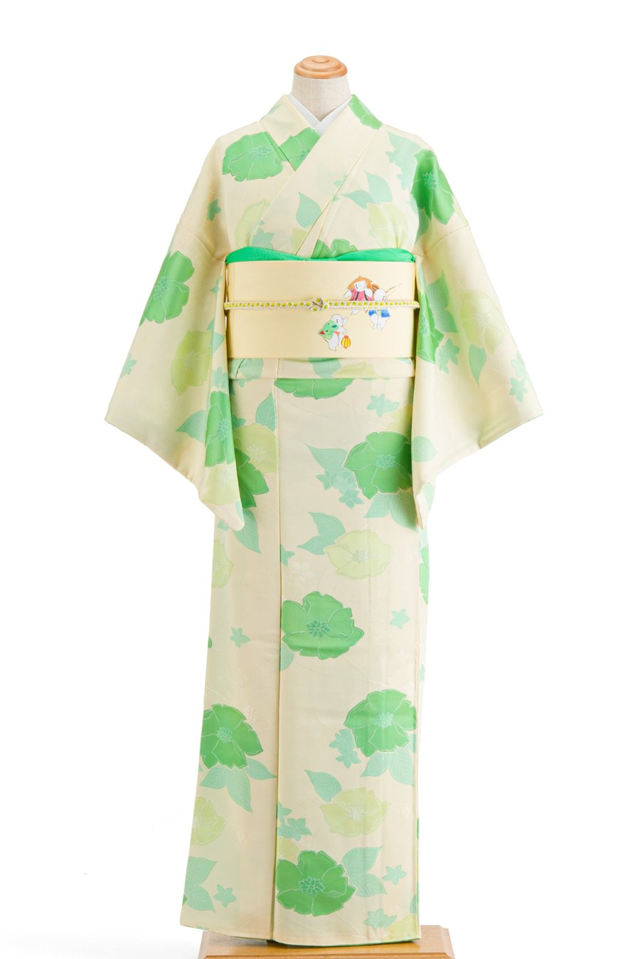 「グリーンとライムイエローの花」の商品画像