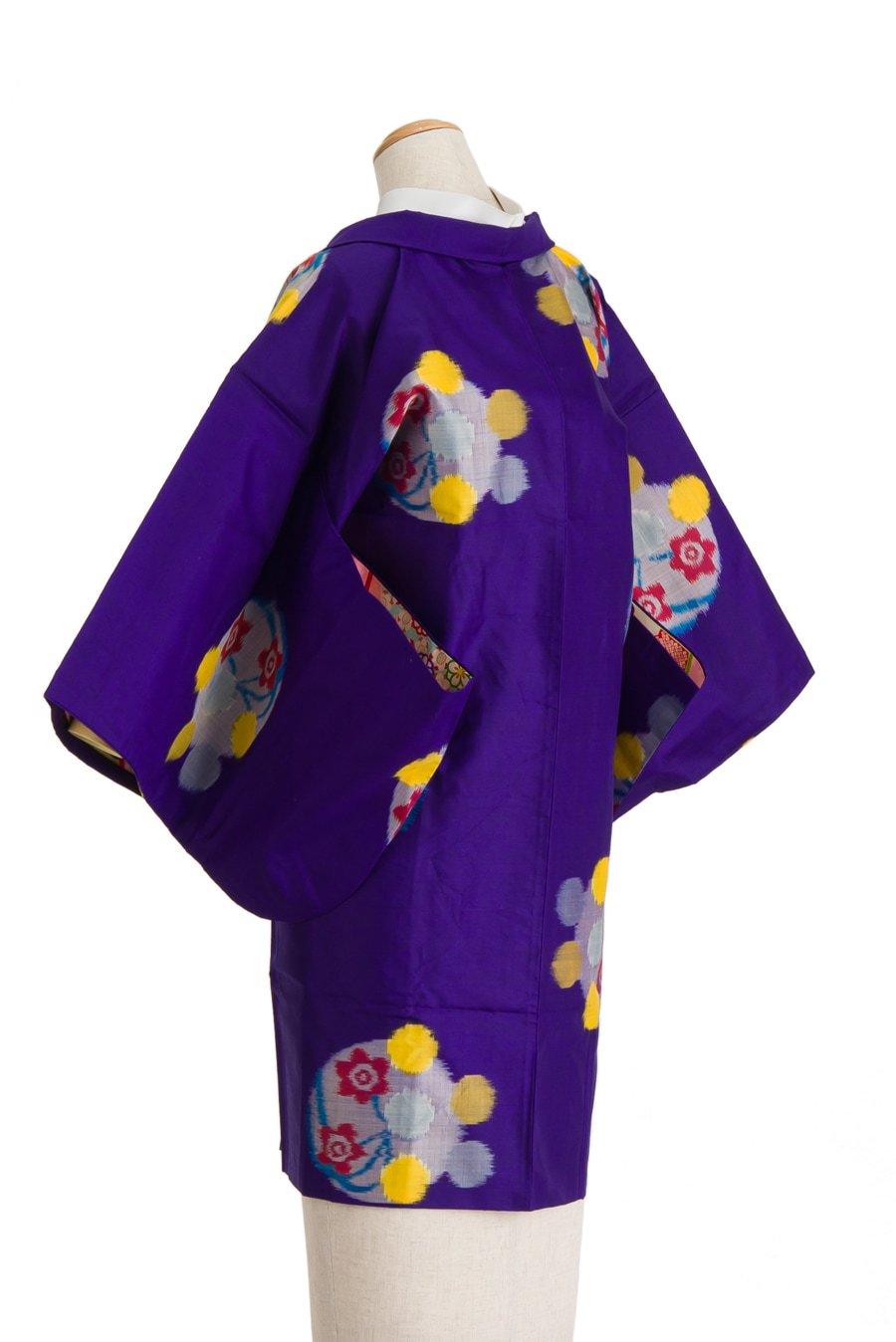 「アンティーク着物 銘仙 水玉と花」の商品画像