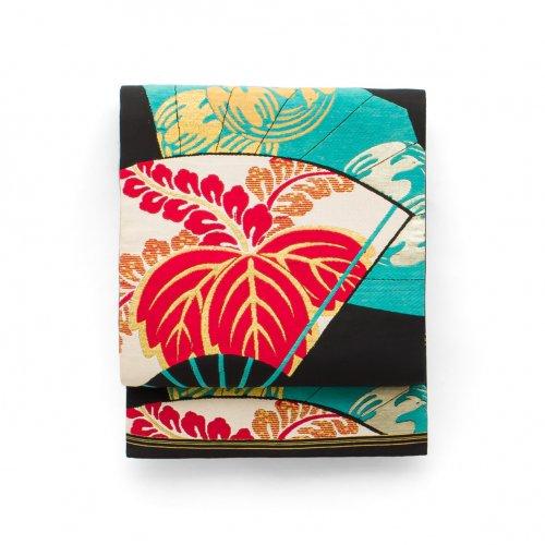 アンティーク着物 扇に桐のサムネイル画像