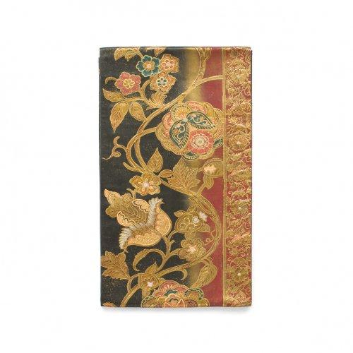 袋帯●縦暈しに金唐花のサムネイル画像