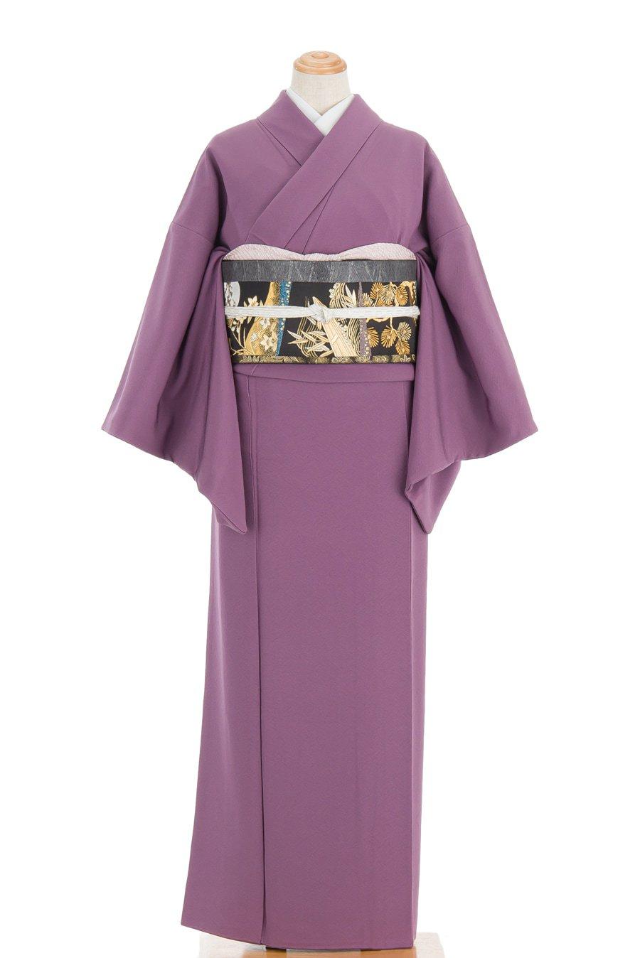 「色無地 一つ紋 若紫」の商品画像