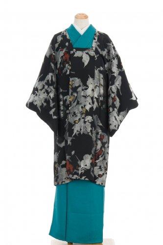 アンティーク着物 ロング道行コート 銀の花のサムネイル画像