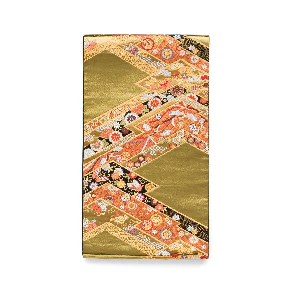 「袋帯●松皮菱取りに鳳凰や蝶」の商品画像