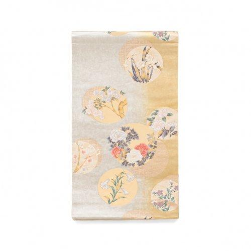 袋帯●丸に花 牡丹 百合 桜などのサムネイル画像