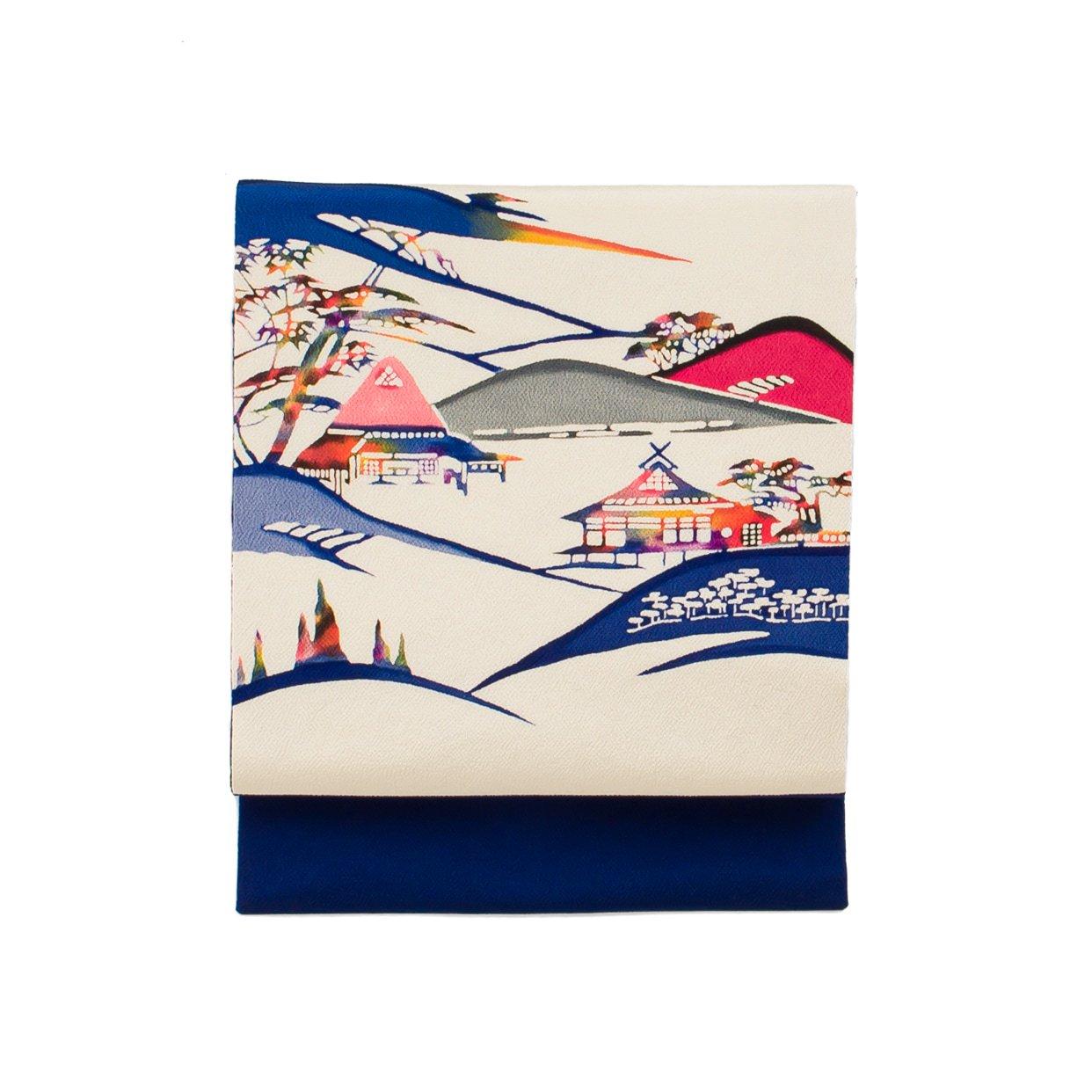 「重なる山と民家」の商品画像