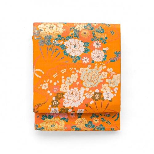 アンティーク着物 檜扇に薔薇や牡丹のサムネイル画像