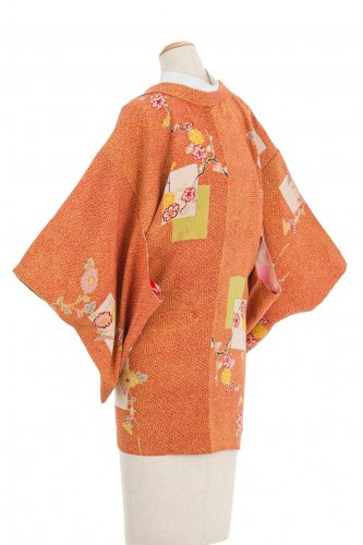 アンティーク着物 絵札に花のサムネイル画像