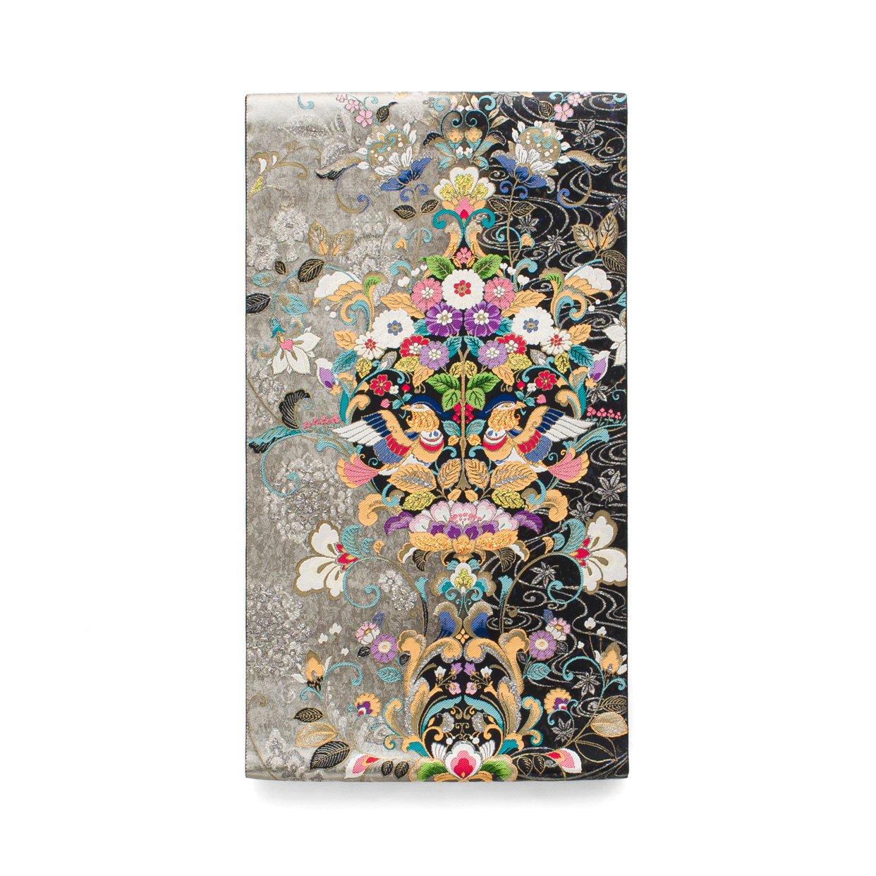 「袋帯●花の輪に二羽の鳥」の商品画像