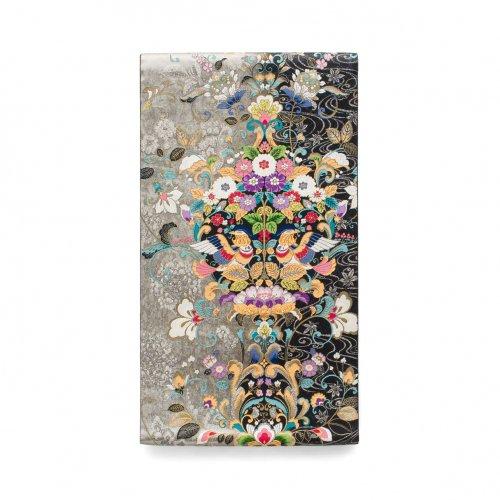 袋帯●花の輪に二羽の鳥のサムネイル画像