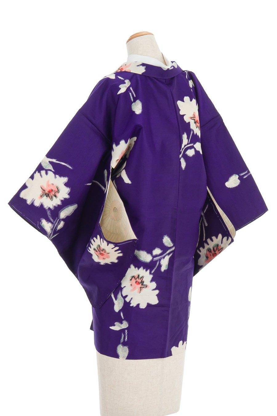 「アンティーク着物 銘仙 白い花」の商品画像