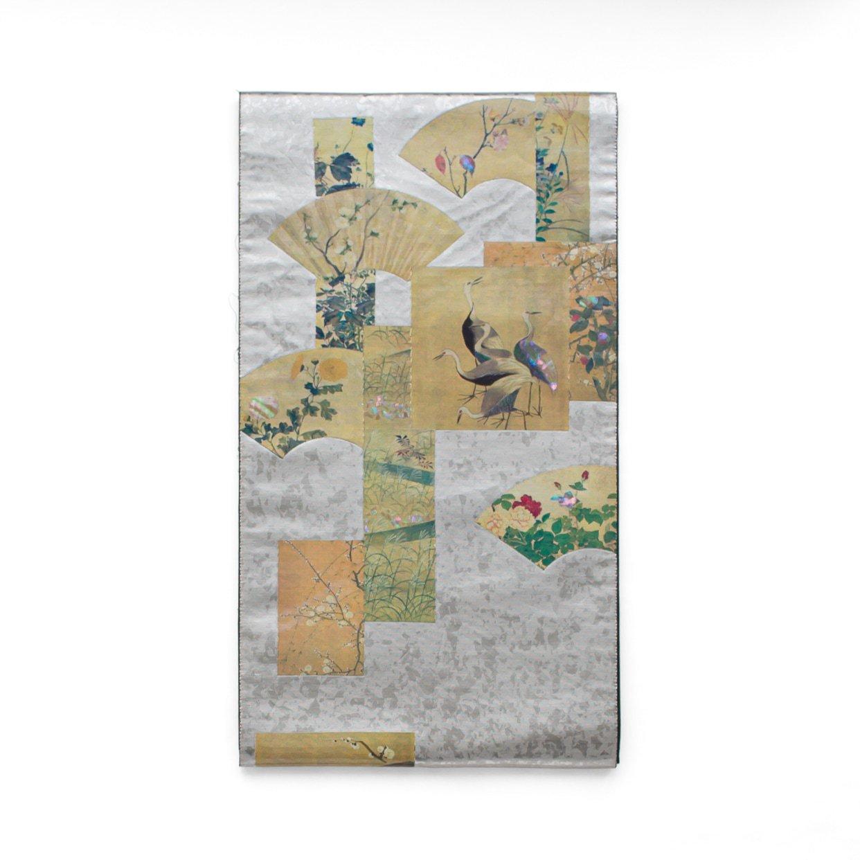 「袋帯●螺鈿の鶴や菊など」の商品画像