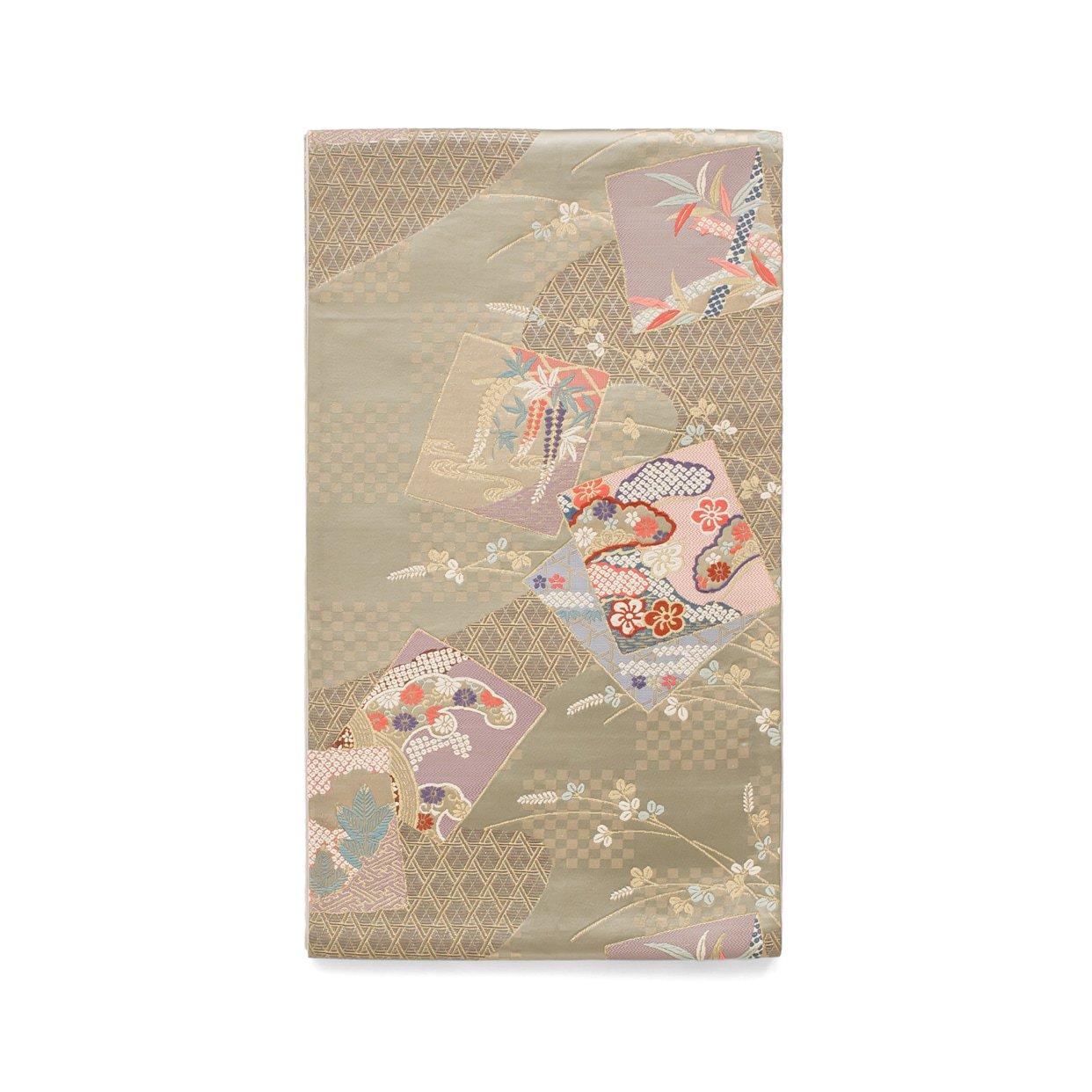 「袋帯●市松や網目に絵札模様」の商品画像