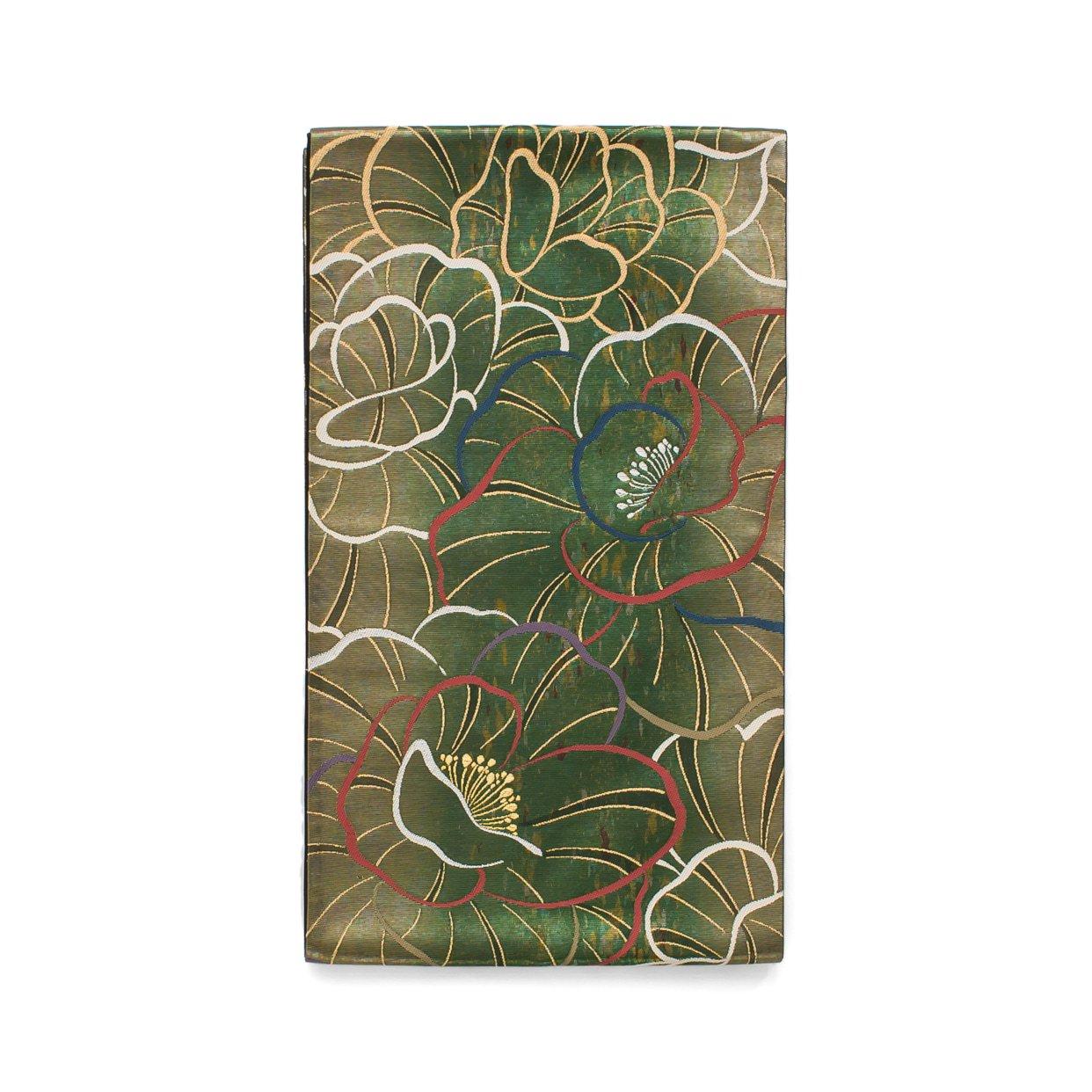 「袋帯●金緑地 大輪の花」の商品画像