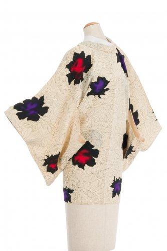 アンティーク着物 黒薔薇のサムネイル画像