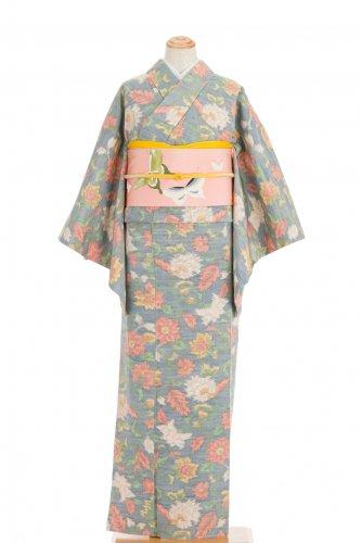 紬 白 黄 ピンクの花