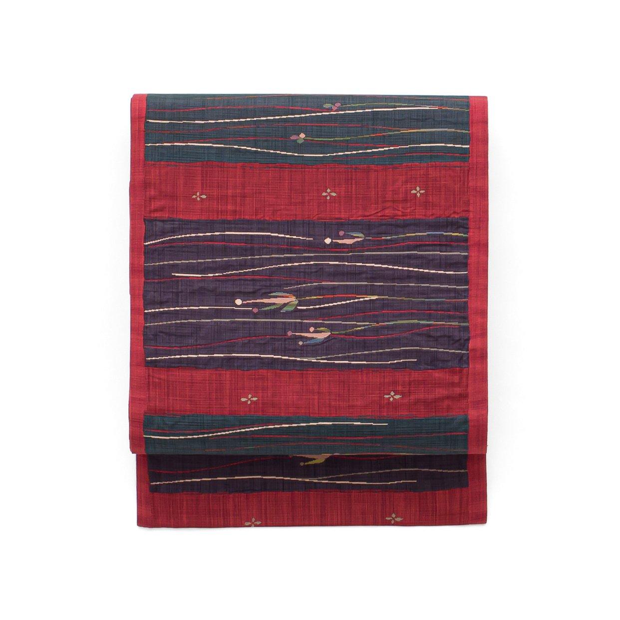 「洒落袋帯●紬 カラフル小花」の商品画像