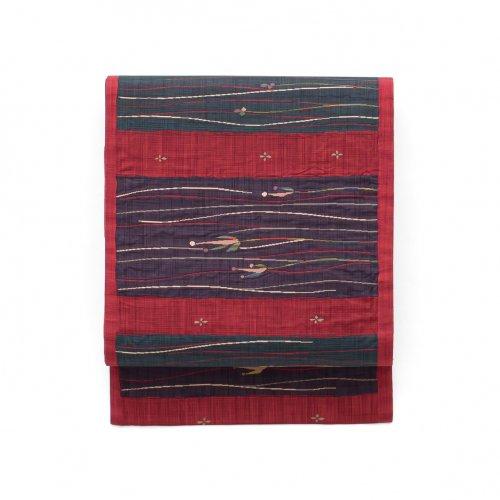 洒落袋帯●紬 カラフル小花のサムネイル画像