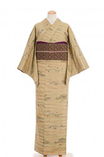 紬 ゆらぎ横縞に菫のサムネイル画像