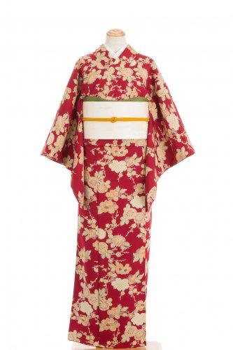 紅赤地 牡丹 菊 梅のサムネイル画像