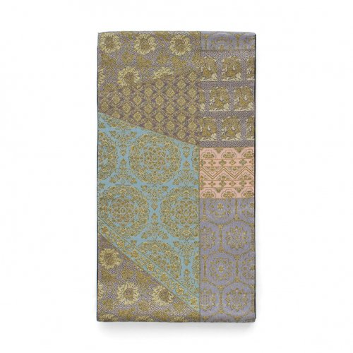 袋帯●更紗切り嵌め柄 華紋や花兎などのサムネイル画像
