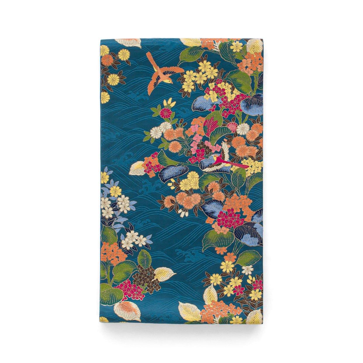 「袋帯●花と鳥と波」の商品画像