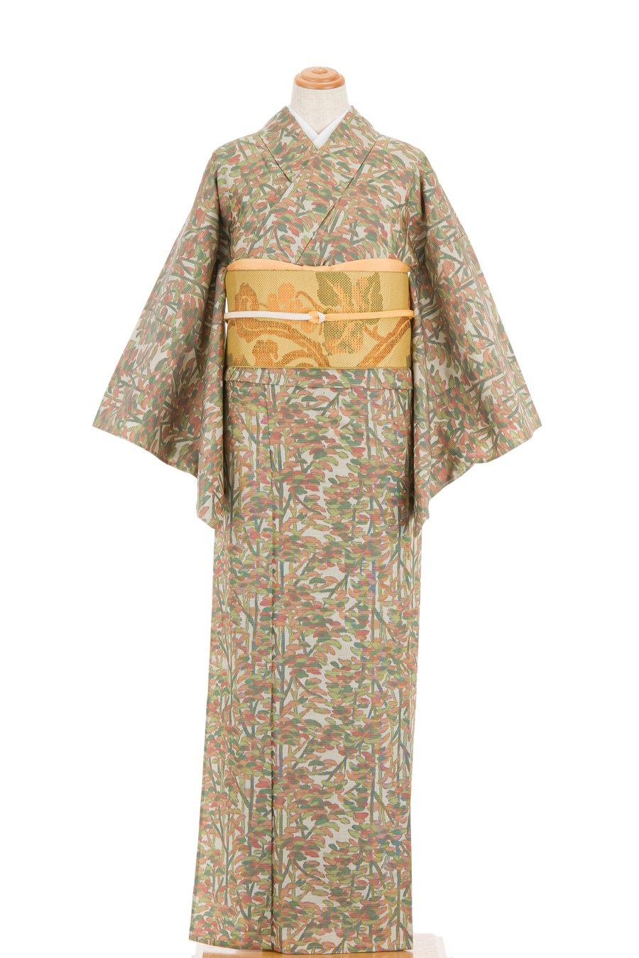 「単衣 紬 木の縞」の商品画像
