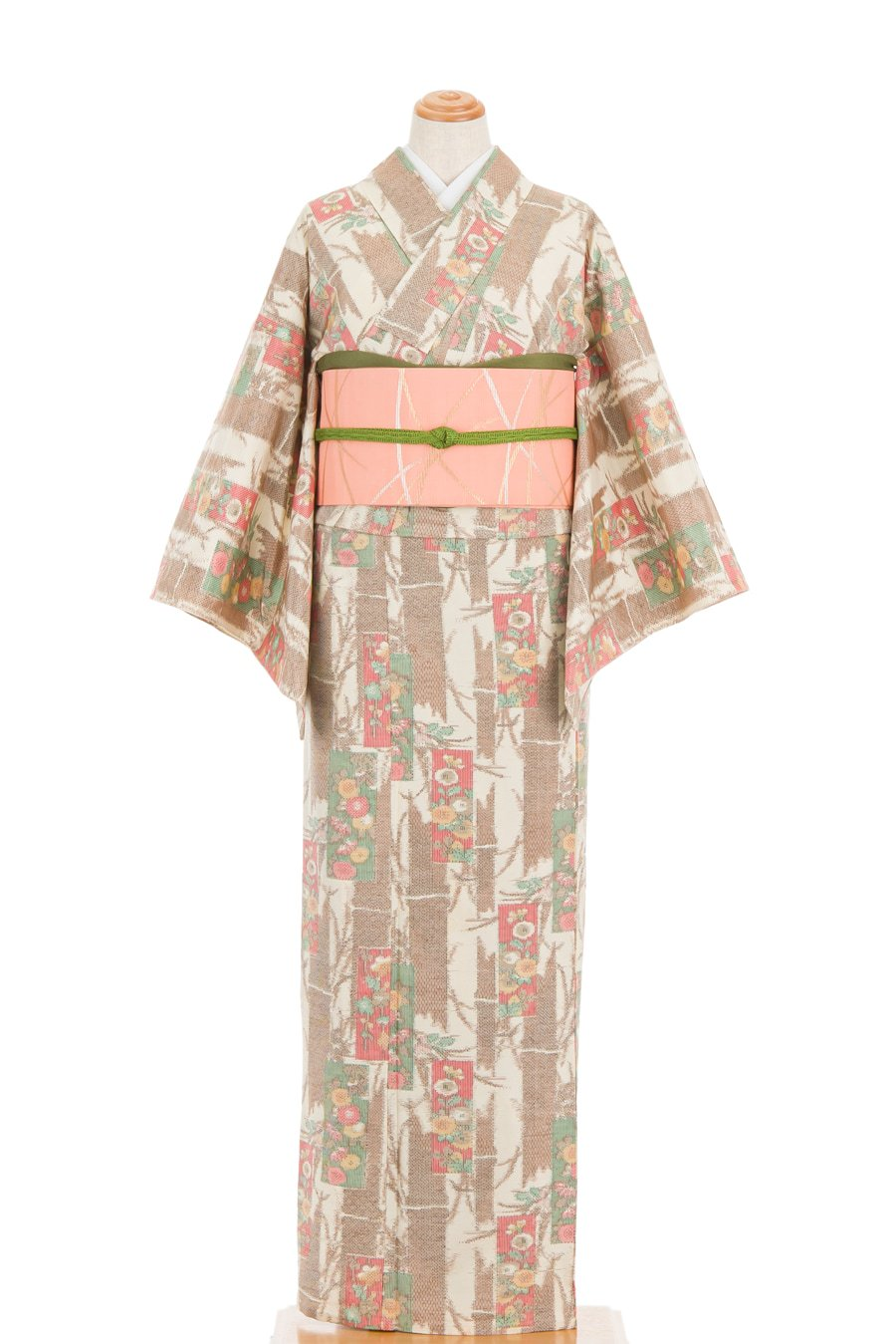 「単衣 紬 花絵札」の商品画像