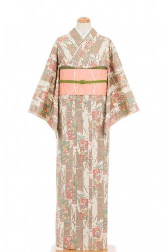 単衣 紬 花絵札のサムネイル画像