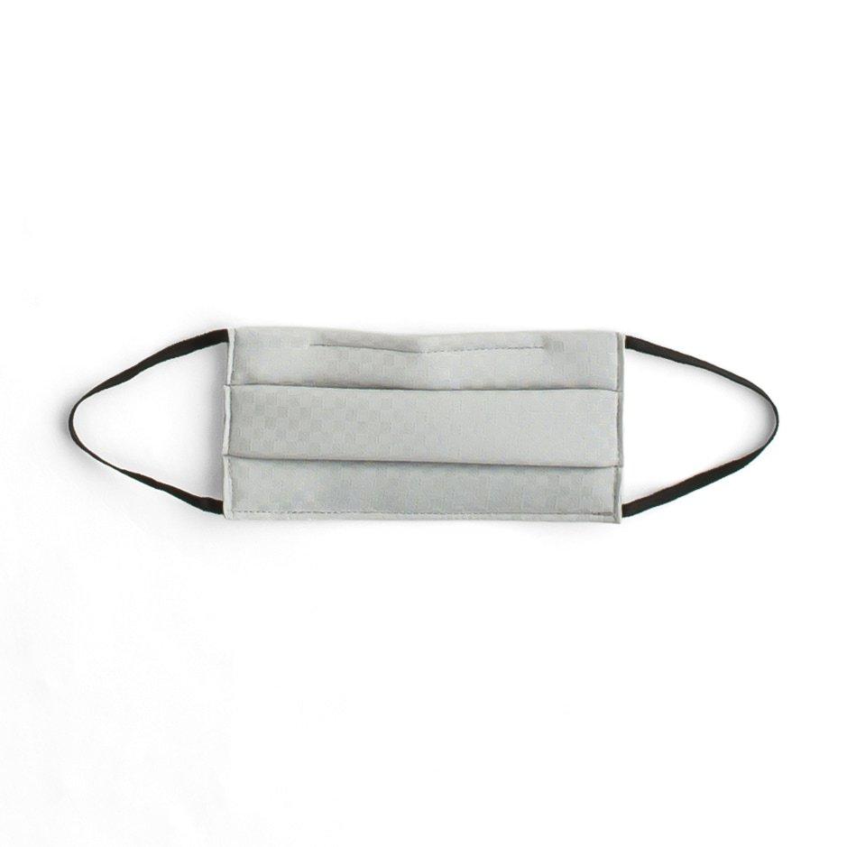 「#02銀鼠色 IRODORI SILK MASK 絹マスク 小杉織」の商品画像