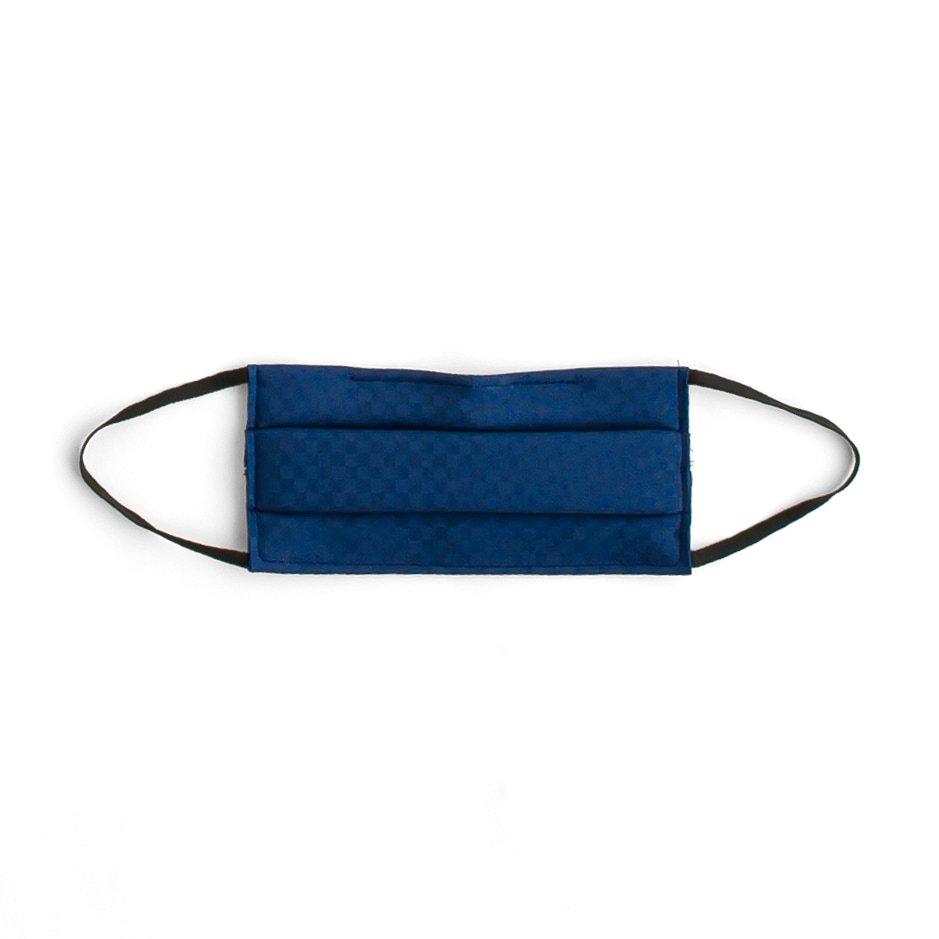 「#04濃藍色 IRODORI SILK MASK 絹マスク 小杉織」の商品画像