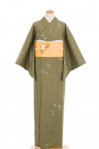 単衣 紬 横向きの花のサムネイル画像