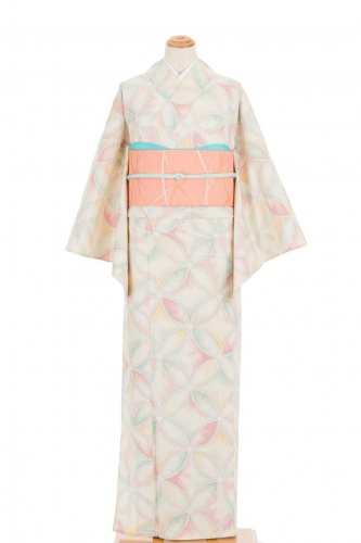 単衣 紬 パステルカラーの七宝のサムネイル画像