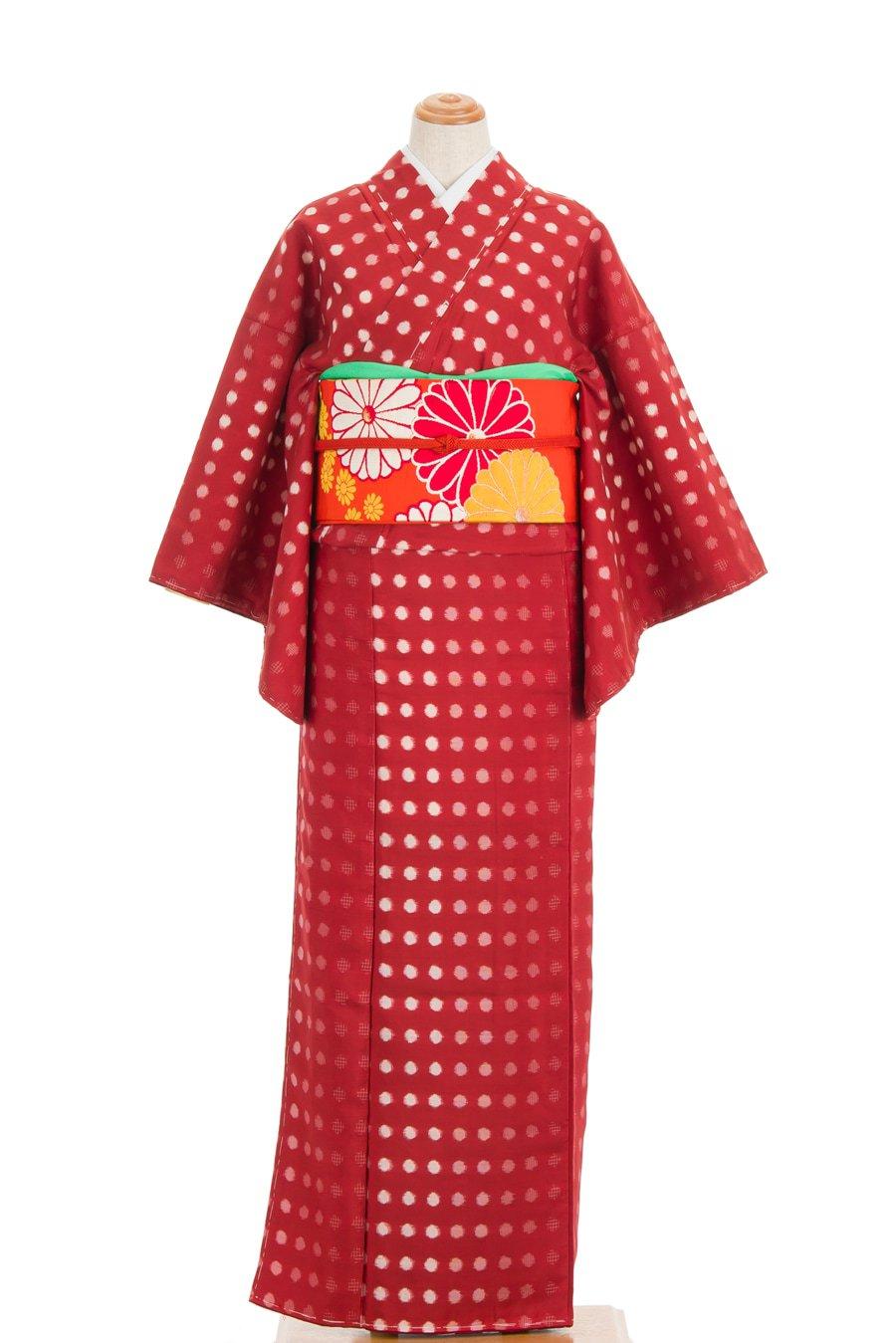 「アンティーク着物 銘仙 水玉」の商品画像