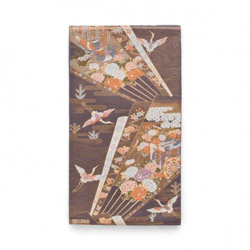 袋帯●扇に御所車 空舞う鶴のサムネイル画像