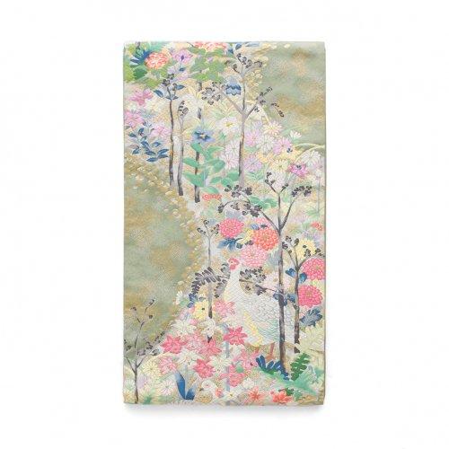 袋帯●白雉と花の道のサムネイル画像