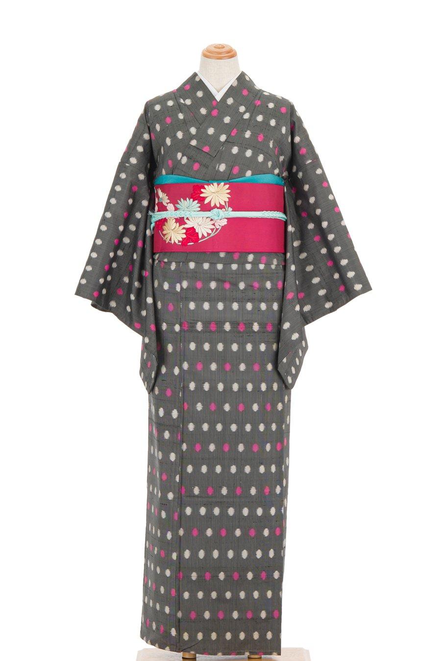 「単衣 アンティーク着物 水玉ドット」の商品画像
