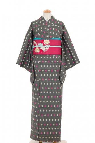 単衣 アンティーク着物 水玉ドットのサムネイル画像