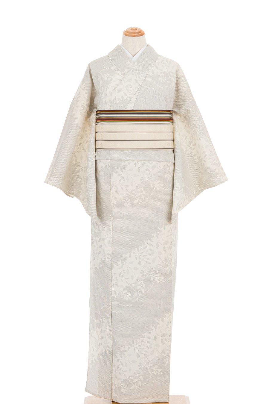 「単衣 お召 葉のシルエット」の商品画像