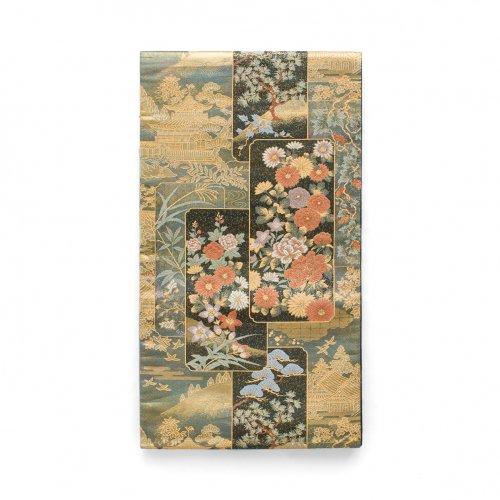 袋帯●四季花短冊模様のサムネイル画像