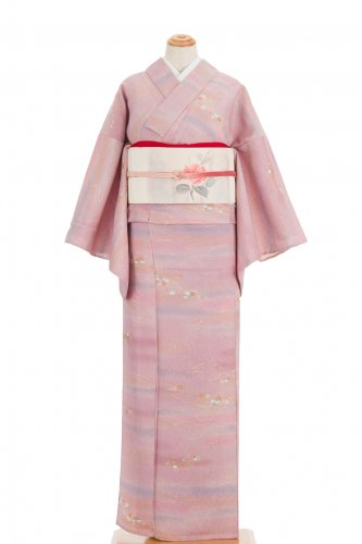 単衣 ピンク暈しに菊や紅葉などのサムネイル画像
