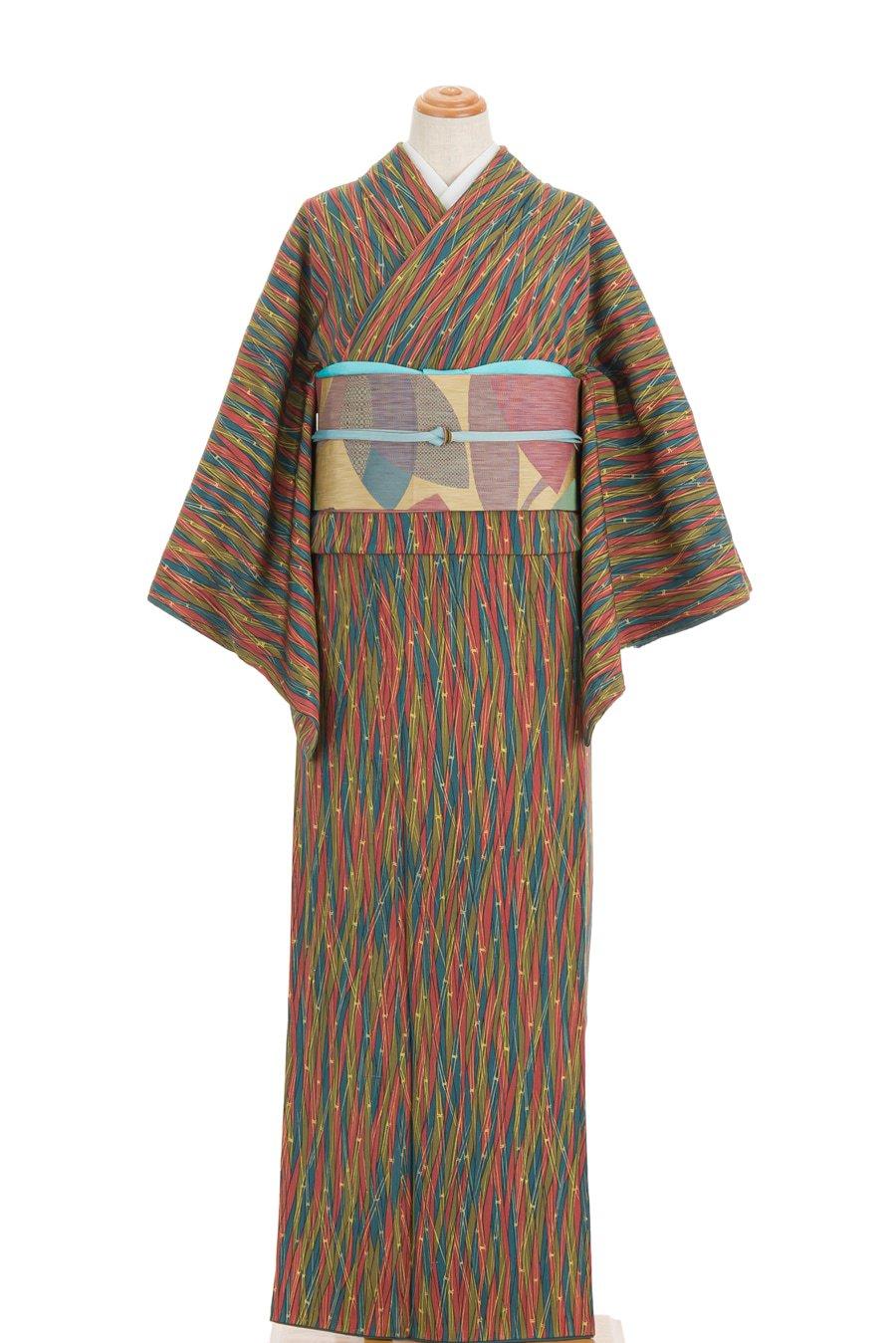 「セミアンティーク着物 竹の縞」の商品画像