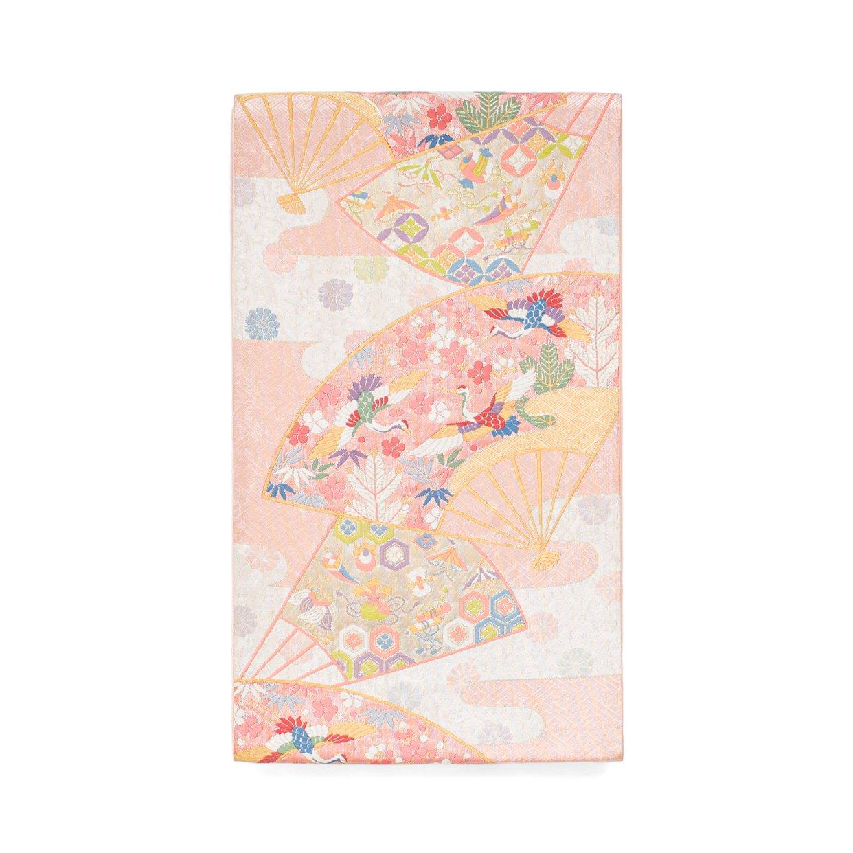 「袋帯●扇に鶴や宝尽くし文様など」の商品画像