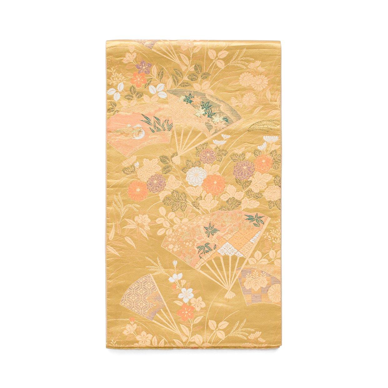 「袋帯●扇に秋草や水鳥」の商品画像