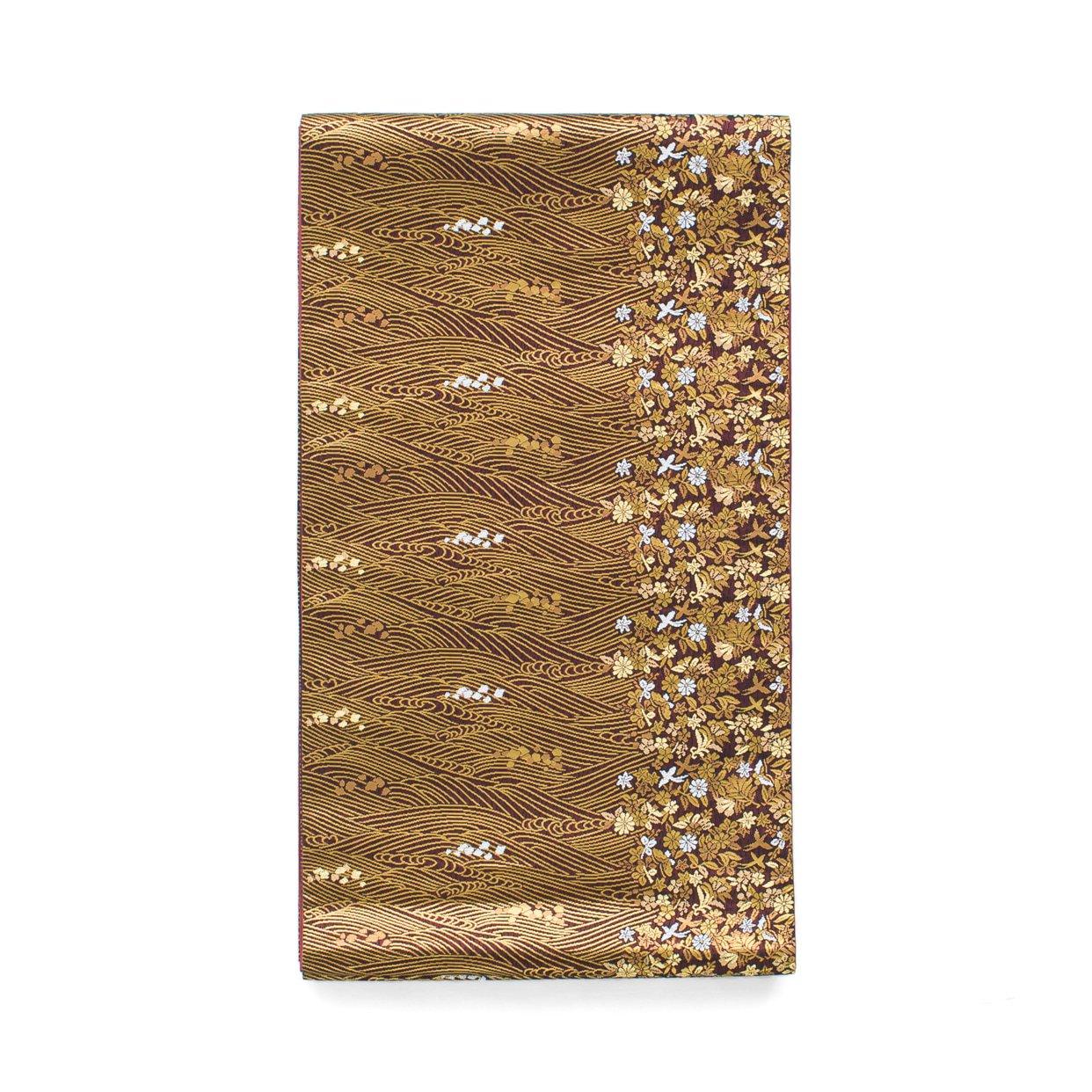 「袋帯●金の波 花と鳥」の商品画像