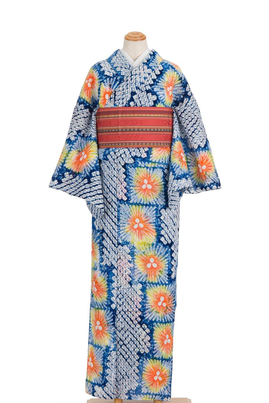 「絞りの浴衣 オレンジ花火」の商品画像