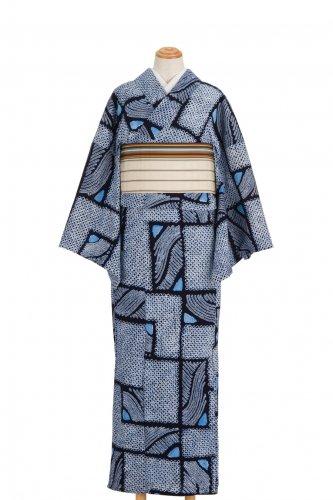 絞りの浴衣 札模様のサムネイル画像
