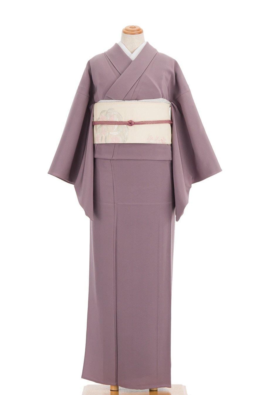 「単衣 色無地 無紋 浅紫」の商品画像