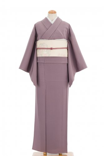 単衣 色無地 無紋 浅紫のサムネイル画像