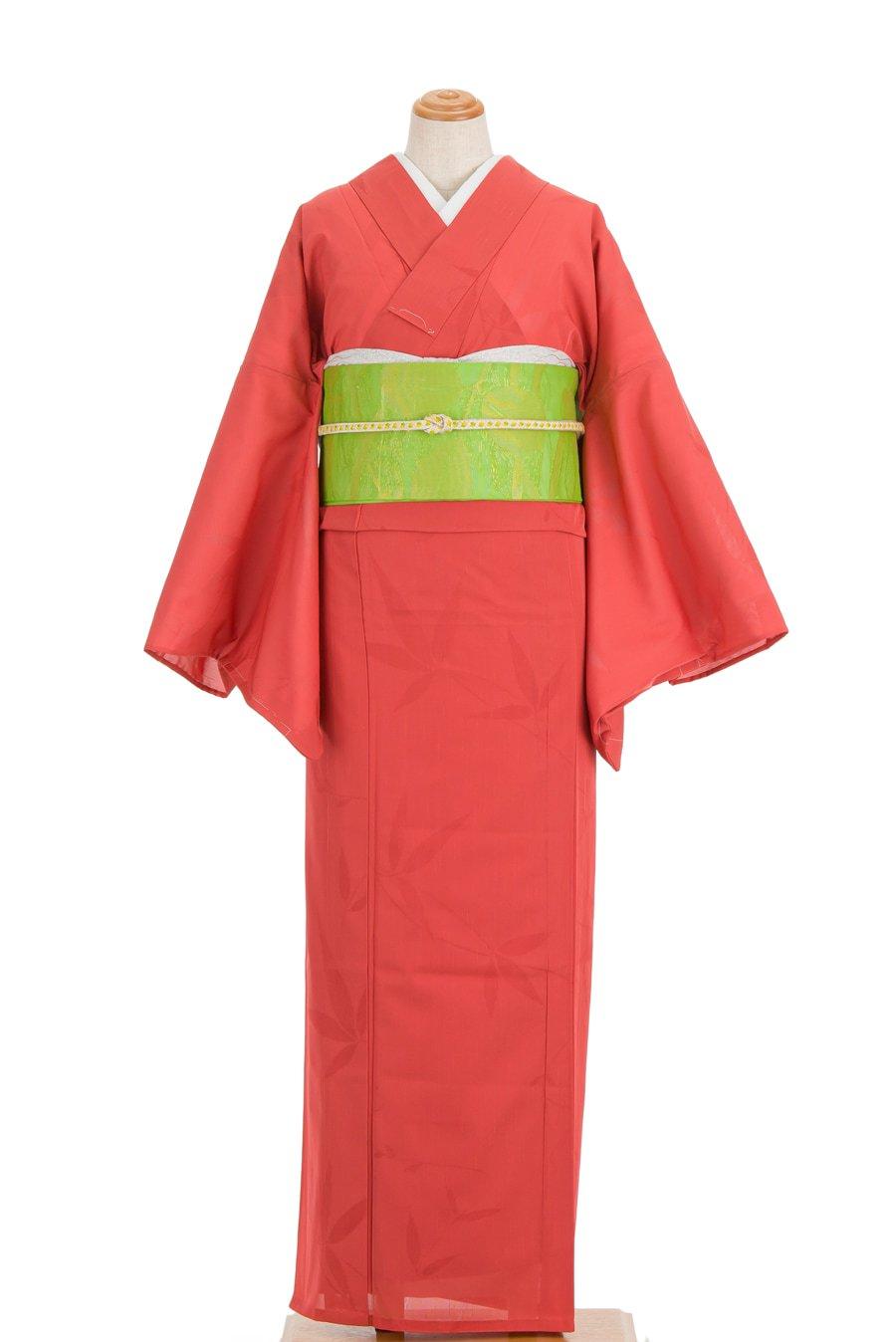 「絽 紗紬 透かし織り 葉模様」の商品画像